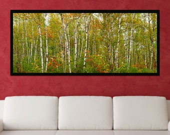 Autumn Photography, Colorful Large Wall Art, Framed and Printed on Canvas