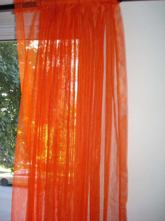 Where to find orange sheer curtains curtain menzilperde net for Where to buy curtain panels