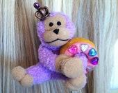 kawaii lolita fairy kei decora monkey donut dessert hair clip