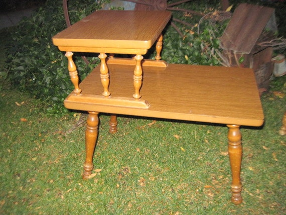 Darling Country End Table With Spindles Sweet Mid Century