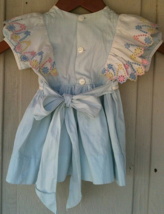 Vintage 1940's Girls, Toddlers Dress