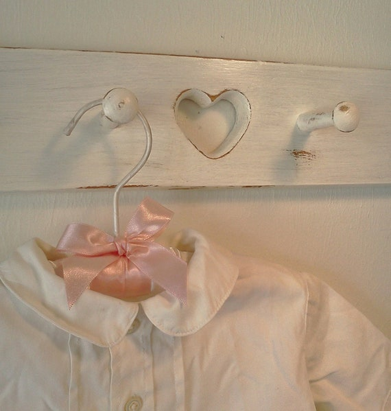 Shabby Chic Wood Coat Rack Peg Board