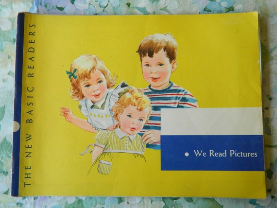 Vintage, We Read Pictures, 1956, Scott Foresman, Pre-Reading Workbook, The New Basic Readers, Fair Condition. Pictures for framing, crafting