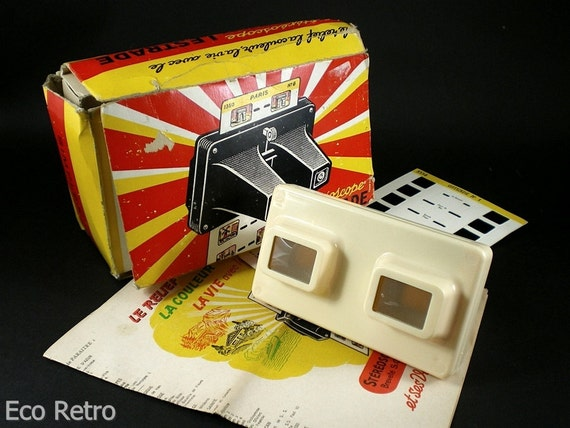 Lestrade Stereoscope - Vintage 1960s French 3D viewer with Original Box