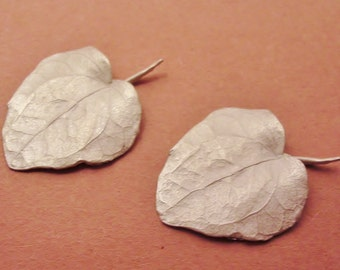 large leaves cast English ivy leaves raw sterling silver raw casting UL015-2