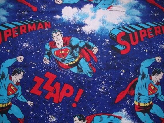 Unique Batman Vs Superman Bedroom Ideas That Rock: Vintage 70s Superman Fabric DC Comics Curtain Panel 1978 Super