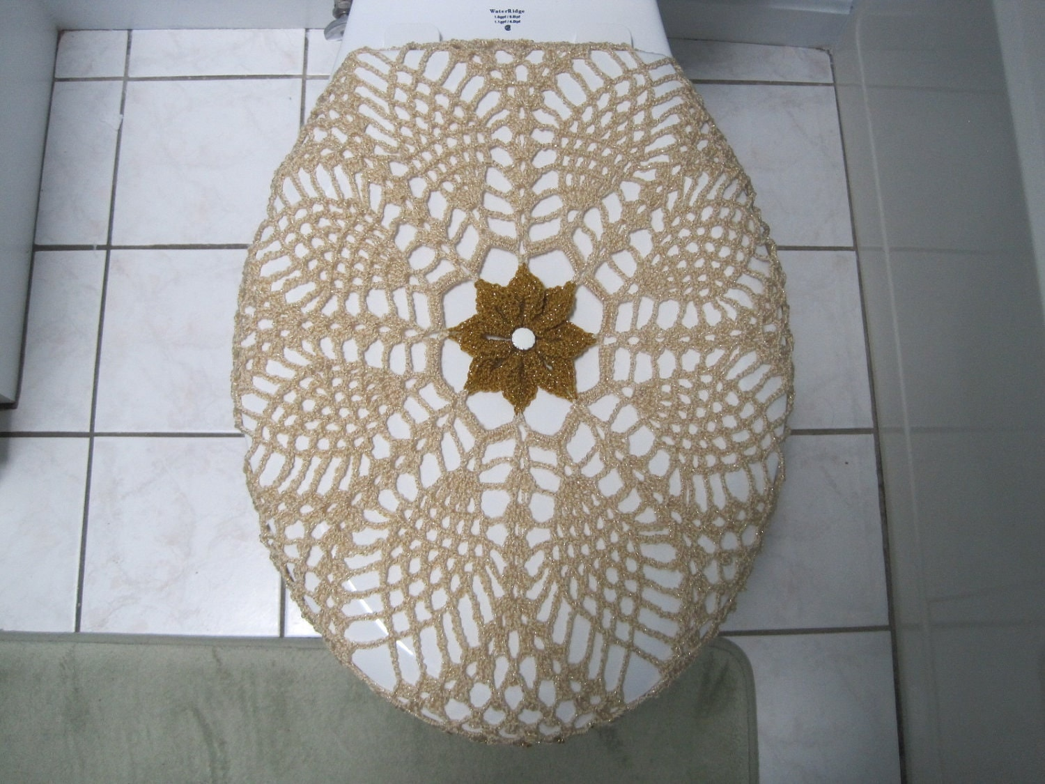 Crochet Toilet Seat Cover Or Crochet Toilet Tank Lid Cover