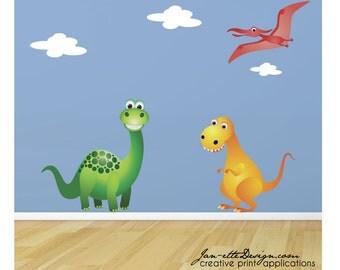 Dinosaur Wall Decal,Kids Wall Decal,Childrens Dinosaur Wall Stickers