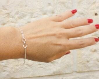 Infinity bracelet - tiny sterling silver Infinity bracelet, bridesmaid gift,eternity bracelet, best friends bracelet, gold Infinity bracele