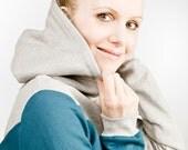 """hoodie """"krokus"""", petrol - grey"""