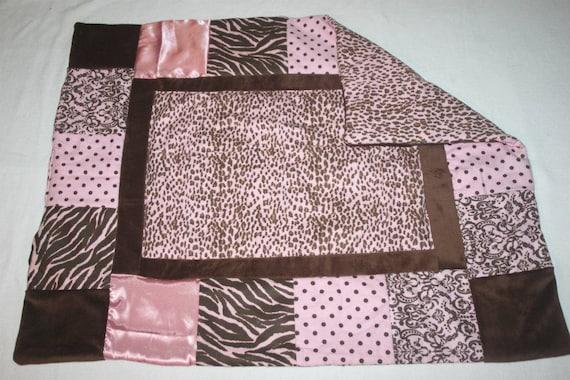 pink animal print baby blanket