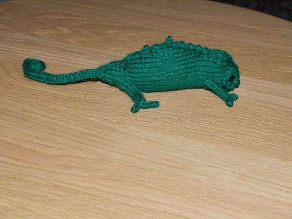 Small Knitted Chameleon reserved for Ellie & Edmond
