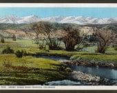 Snowy Range near Trinidad Colorado - Fred Harvey postcard H-1558