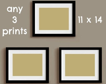 Set of three prints- 11 x 14 prints - choose any 3 in our shop