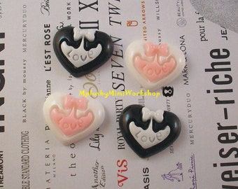 Flatback Heart Cabochon 2pc 18mm x 15mm