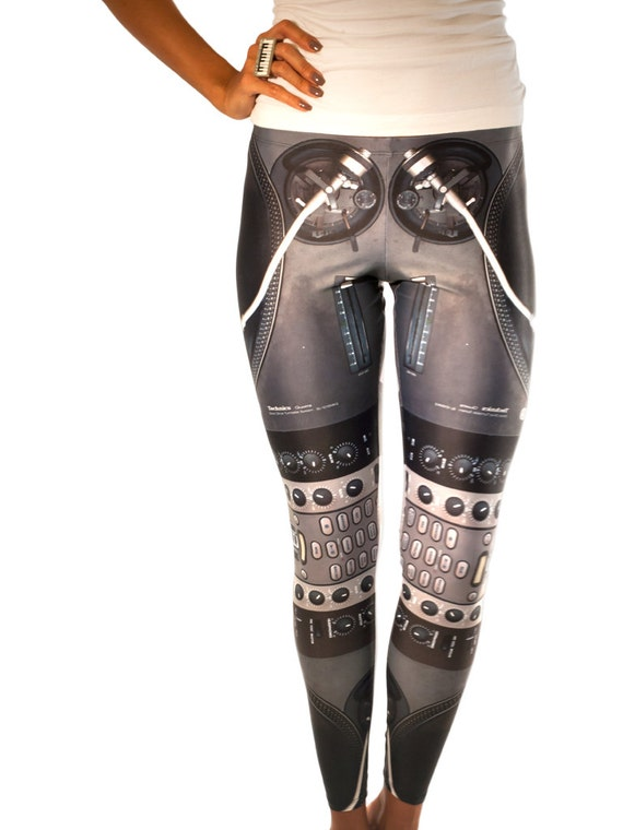 "FREE SHIPPING Leggings  ""Dj Setup"""