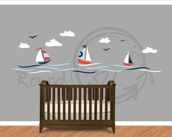 and children 39 s wall decal nautical decor for bedroom playroom