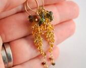 Reserved - Custom Gemstone and Pearl Earrings in Sterling Silver