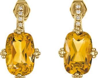 Yellow Diamond Earrings  Jewelry Citrine Gold