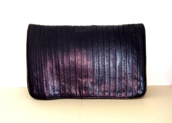 Mika Italian Leather Clutch Designer Purse
