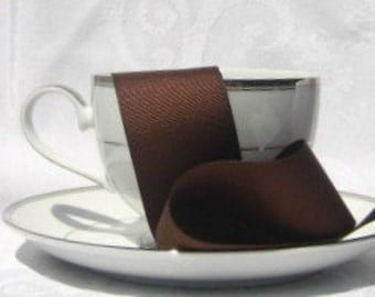 "Brown Grosgrain Ribbon 1.5"" wide - 3 yards"