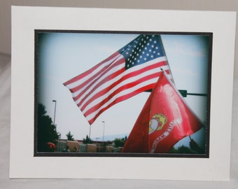 photo card, USA, American Flag, Military, patriotic