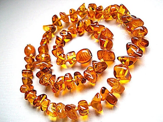 baltic amber baby teething necklace cognac by balticlarashop