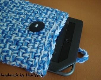 Nook Tablet Cover or Kindle Fire Cover Sleeve Bag Jacket - Handmade Crochet