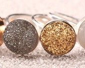 Brillant 10mm Druzy Stackable Rings