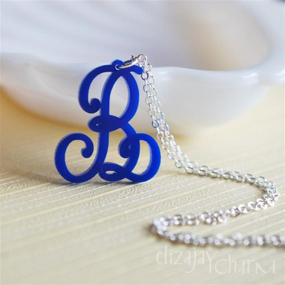 Lace Initial Necklace