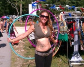 CUSTOM SET colored polypro hoops, four mini hoops or both by Surka's Circus: your size, two colors, 3/4, 5/8, UV reactive, easy travel