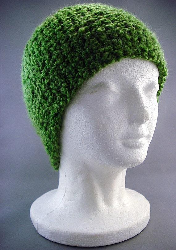Mens Womens Skull Cap Beanie Hat in Moss Green