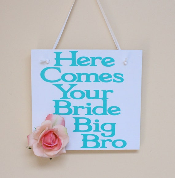 Here comes the bride wooden sign for weddings