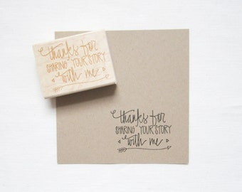 Photographers Stamp - Thanks for sharing your story with me - Photography Packaging - photography stamp - READY TO SHIP