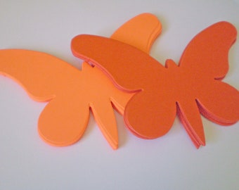15 Large Orange Die Cut Butterflies
