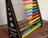 Rustic Abacus Toy, Mid Century Childrens Abacus Toy