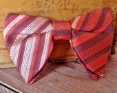 Butterfly Bow Tie, Vintage Stripe Butterfly Clip Bowtie, Retro Mens Accessory