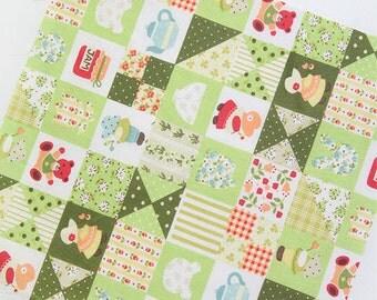 Sunbonnet Sue Patch in Green Cotton Blend per Yard 23487