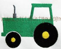 Mini Tractor Machine Embroidery Design