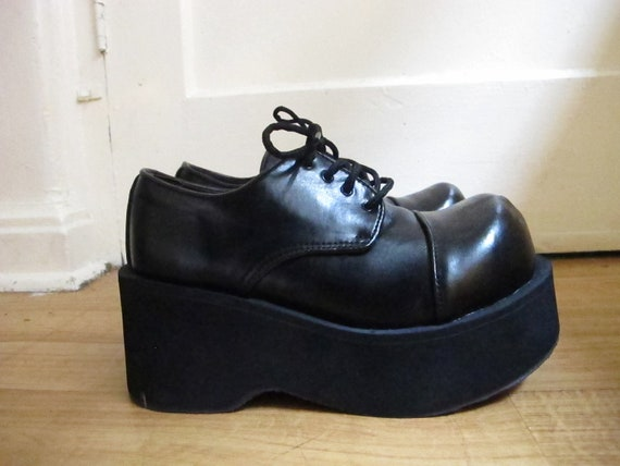 90s style Platform/Flatform Demonia Lace up Shoes