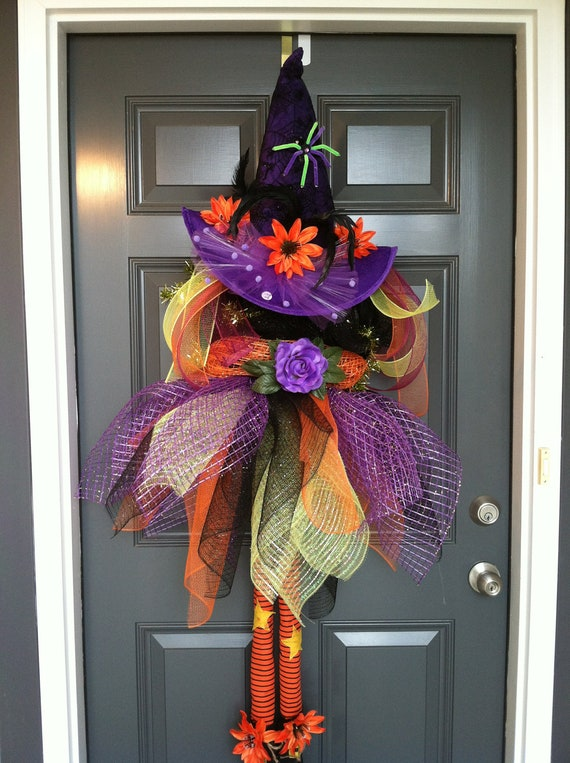 Fancy Witch Halloween wreath