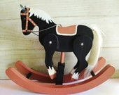 Hand Made Wooden Rocking Horse - Home Decor - Nursery Decor - Children's Room - Vintage - Country Western