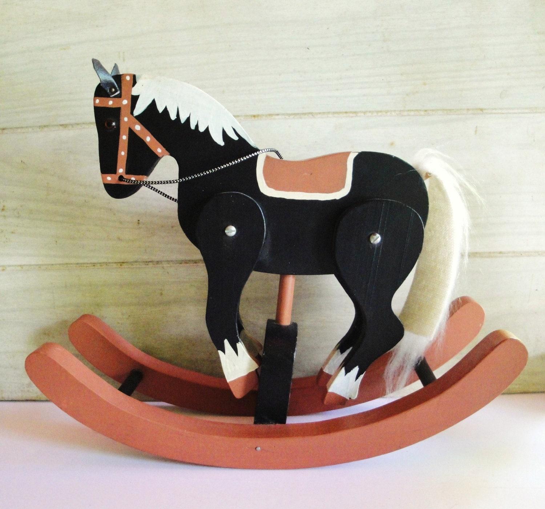 Hand Made Wooden Rocking Horse Home Decor By MuzettasWaltz