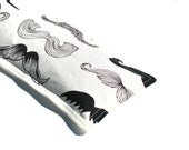 Mustache Eye Pillow, Relaxing Eye Pillow, Black and White Aromatherapy, Lavender Eye Pillow