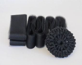 Black Scrubbie Nylon Netting Strips Supplies