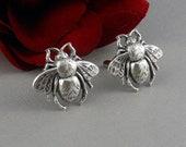 Silver Bumble Bee Cufflinks, Cufflink, Cuff links, Men, Weddings, Gift, Bee Cufflinks