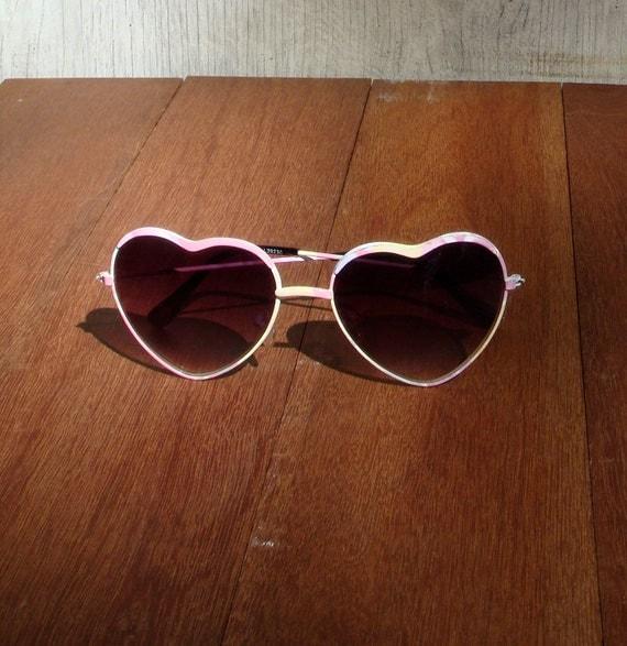 Heart sunglasses 1980s