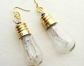 Steampunk Lightbulb Earrings