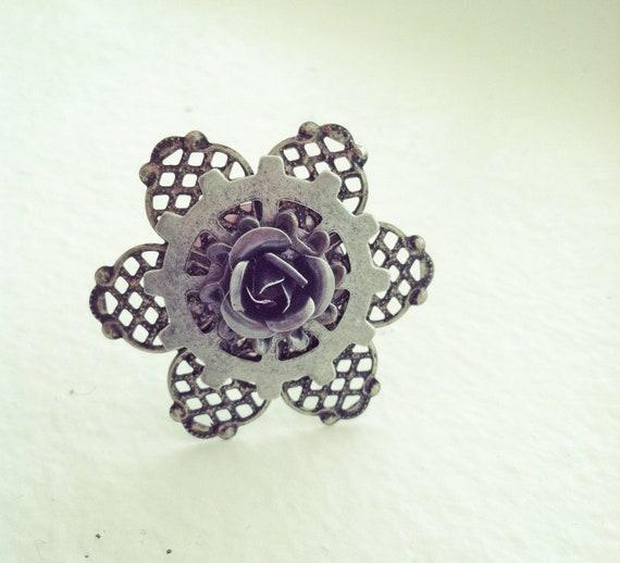 Steampunk Flower Ring