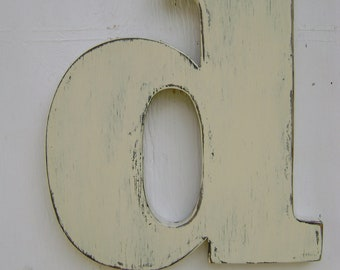 Custom Letter Baby room rustic wood letter decor wall hanging decor